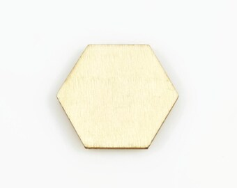 HEXAGON WOOD CUTOUT (Set of 10) -  Hexagon Laser Cut Natural Wood Cutout (3cm x 3.5cm)