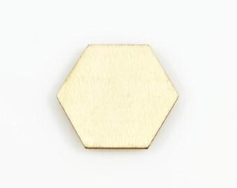 HEXAGON WOOD CUTOUT (Set of 10) -  Hexagon Laser Cut Natural Wood Cutout (3cm x 3.5cm)