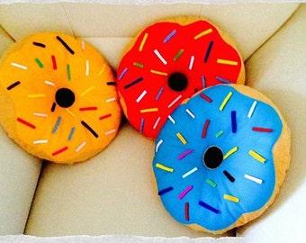 Donut shaped cushion colours 40 '' handmade