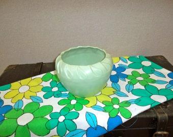 Vintage Mint Green USA Pottery Planter