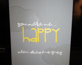 Canvas Painting - You make me happy