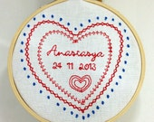 Newborn embroidered decor...