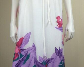tropical flower print wrap skirt