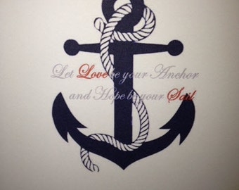 Let Love be Your Anchor Cards
