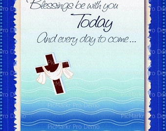 Blessings Be With You Religious - Edible Cake and Cupcake Topper For Birthday's and Parties! - D2908