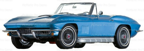 Classic Cars Antique Corvette - Edible Cake and Cupcake Topper For Birthday's and Parties! - D9186