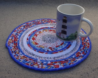 10'' Round Fabric Coiled Mat