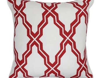 Marble Red Cushion Cover. Pillow Cover.