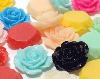 20 Mixed Color Cabochons - Flat Back (Scrapbooking & Crafts)