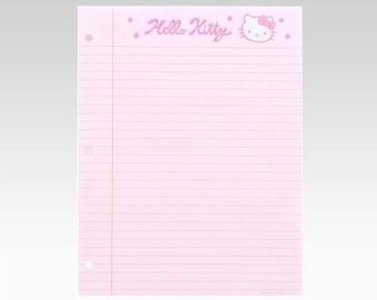 Hello Kitty 3-Ring Binder Paper: Squiggle