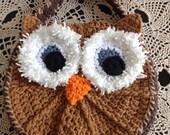Owl purse, Girls Owl Purse, brown girls purse