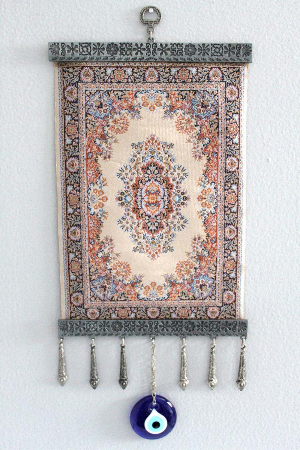 Home decor rug crafted silver evil eye for Evil eye home decor
