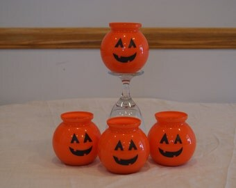 Jack o'Lantern jar decorations