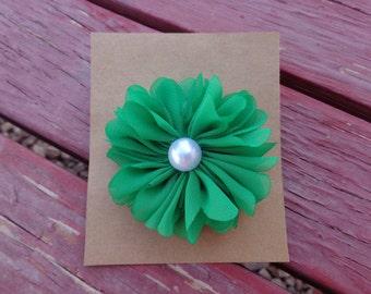 Green hair clip