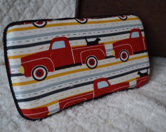 CLEARANCE!!    Closing out on diaper wipe cases, I need more room for my bandana bibs and bibs. Red Truck Diaper Wipe Case