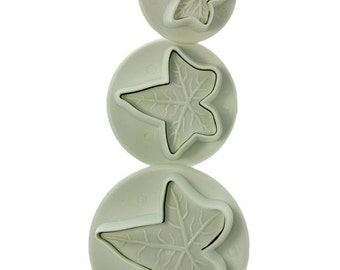 Ivy Leaf Pattern Clay Cutters (Pkg of 3) By Lisa Pavelka  (MC1902)