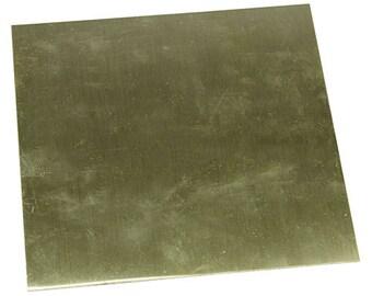 """Red Brass Sheet 24ga 6"""" x 6"""" 0.51mm Thick  (BS24-6)"""
