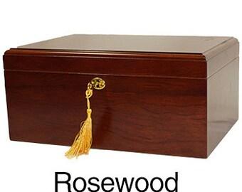 Personalized Humidor, Milano Rosewood Humidor, Groomsman Gift