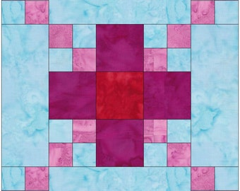 Flower Chain Paper Template Quilting Block Pattern PDF