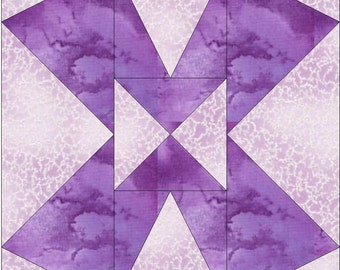 Double Z Paper Piece Foundation Quilting Block Pattern