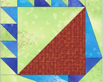 Scrap Basket Paper Piece Foundation Quilting Block Pattern