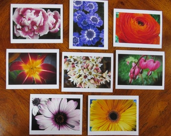 Fine FLORAL Boxed Stationery Photograph Note Cards, Flower photography greeting cards with envelopes, Handmade photo cards Flowers note card