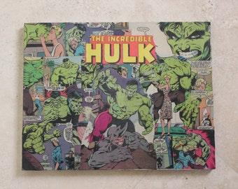 Custom Comic Marvel Comics Incredible Hulk Bruce Banner Avengers Comic Canvas 11x14