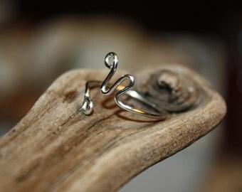 Ring, Sterling Ring, Sterling Wire Wrap  Ring, Wire Wrap Ring