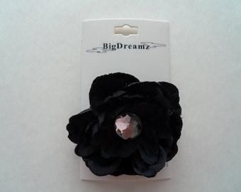 Black Hair Flower, Easter flower,accessories, flower clip, girls hair flower,black,children,little girls, petite hair flower, girls, wedding
