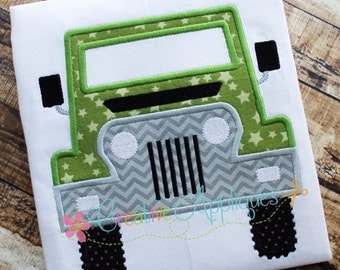 Truck 4x4 Machine Embroidery Applique Design 4 Sizes