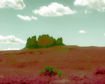 Desert Landscape, Mountain Print, Southwestern Decor, Rustic Print, Red Photo Wall Art, Landscape Print, At One by Paula DiLeo_50914