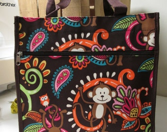 Micro fiber monkey shopping tote