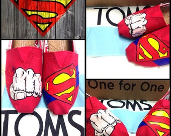 Custom Painted Superman Toms