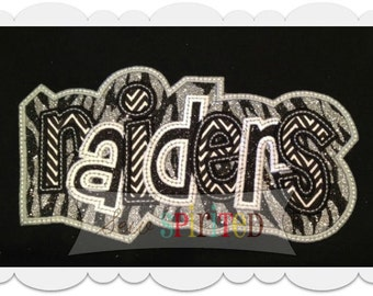 Double Raiders Applique Embroidery Design