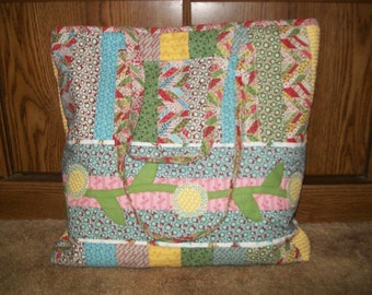 Quilted Christmas tote bag