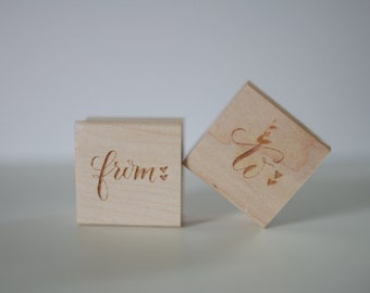Calligraphy To/From Rubber Stamp Set