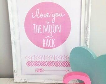 Moon and Back print