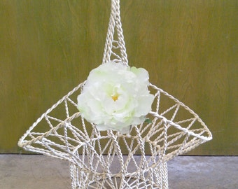 Braided Wire Flower Girl Basket