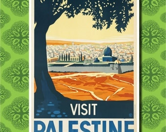 Visit Palestine Travel Poster Wall Decor (7 print sizes available)