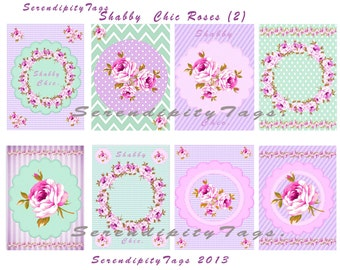 Shabby Chic Rose tags (2)
