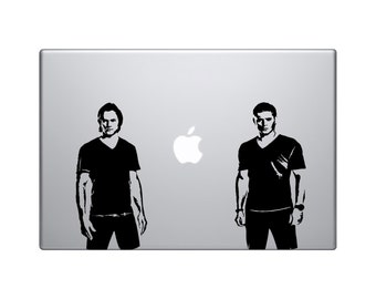 "Supernatural - Sam and Dean Winchester vinyl decal 6"" - Jensen Ackles - Jared Padalecki - Castiel - Bobby - demon hunters - crowley"