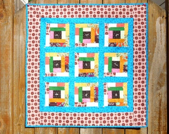 Patchy Window Pane Quilt