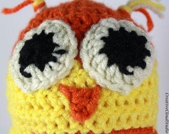 Crochet New Born Baby Owl Hat