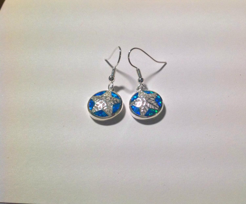 blue fire opal silver plated earrings blue opal fire opal. Black Bedroom Furniture Sets. Home Design Ideas