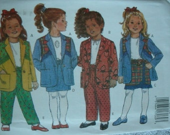 Girls Jacket, Skirt and Pants Girls Size 5-6-6X Butterick Vintage Pattern 6930 Mint Condition UNCUT Pattern 1993