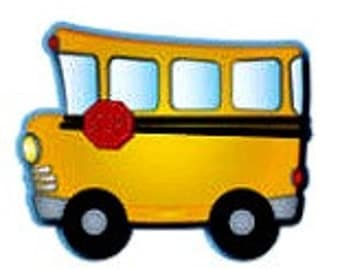 10 School buses, hanging decorations, back-to-school, birthday party, school party