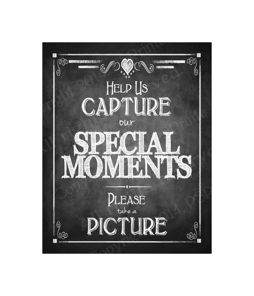 Instand photo or camera Wedding Sign Help