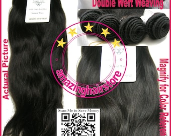 """16""""+18""""+18""""+20"""" 4 Bundles 100% Unprocessed Virgin Brazilian Natural Wave Remy Human Hair Extensions FREE SHIPPING"""