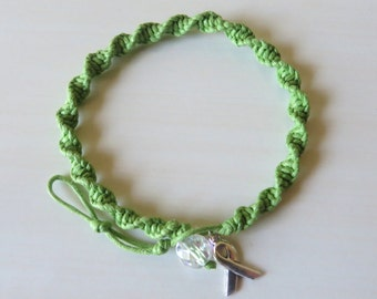 Anklet Lime Green Awareness Ribbon Charm Lymphoma