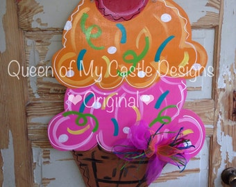 Ice Cream Sherbet Door Hanger